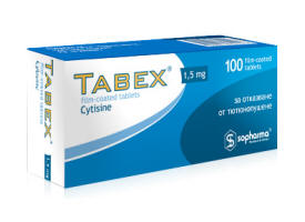 Tabex box 100 tablets 21 days course to stop smoking