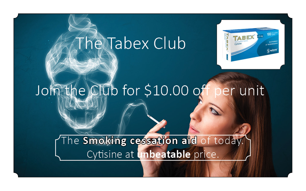 Tabex Club Cytisne stop smoking aid